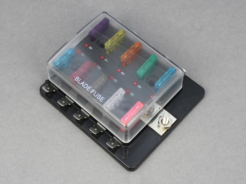 10_way_LED_blade_fuse_box_1[2] standard blade fuse box with leds 10 way 12 volt planet 10 way fuse block at aneh.co